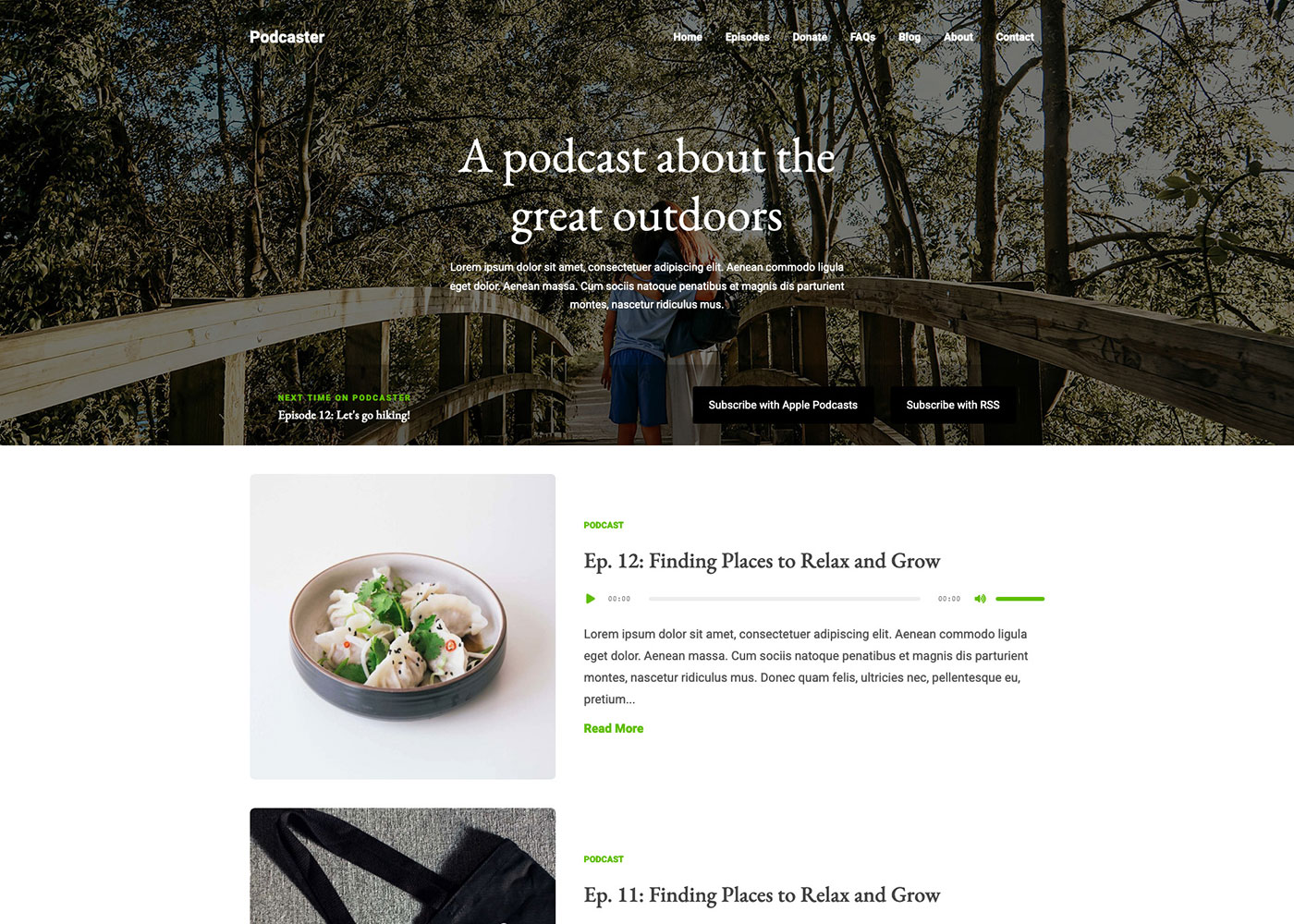 Podcaster Demo Green